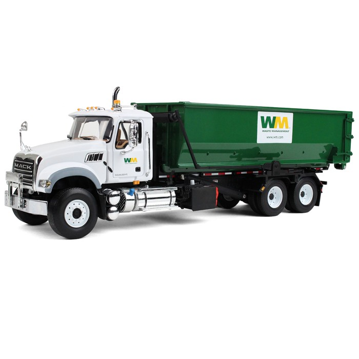 "Mack Granite with Tub-Style Roll-Off Container-""Waste Management"""