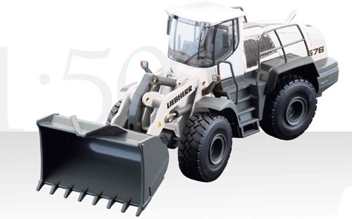 Liebherr L 576 wheel loader white version