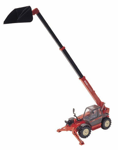 Manitou MT1337 teleboom with bucket