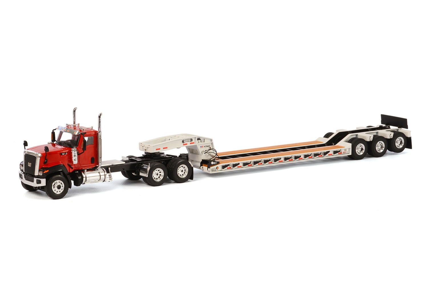 Caterpillar CT680 with 3 axle lowboy-Red/White