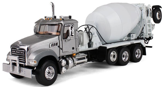 Mack Granite with McNeilus Bridgemaster Mixer Silver/White