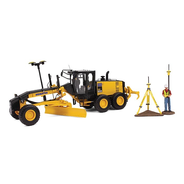 GD655-5 Motor Grader with Ripper and Figure with GPS Base and Rover