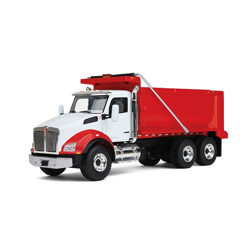Kenworth T880 Dump Truck-White cab/Red body