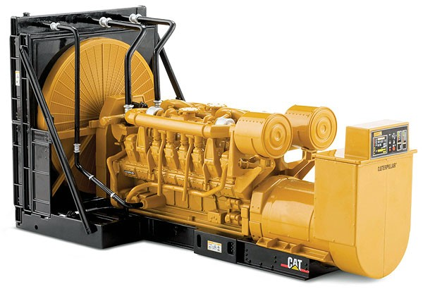Caterpillar 3516 engine generator set on skid