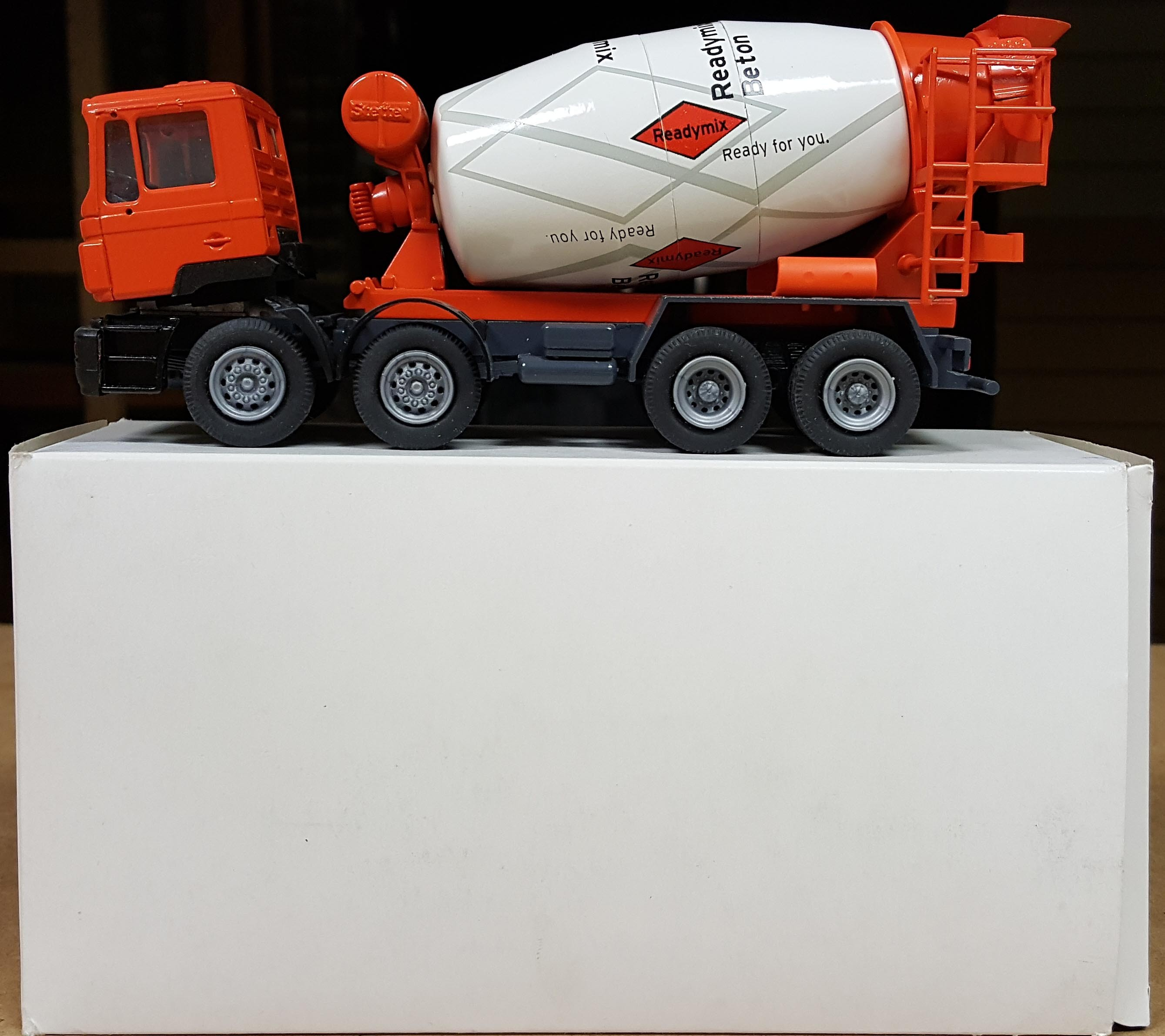 "MAN TRUCK WITH CONCRETE MIXER "" READYMIX BETON """