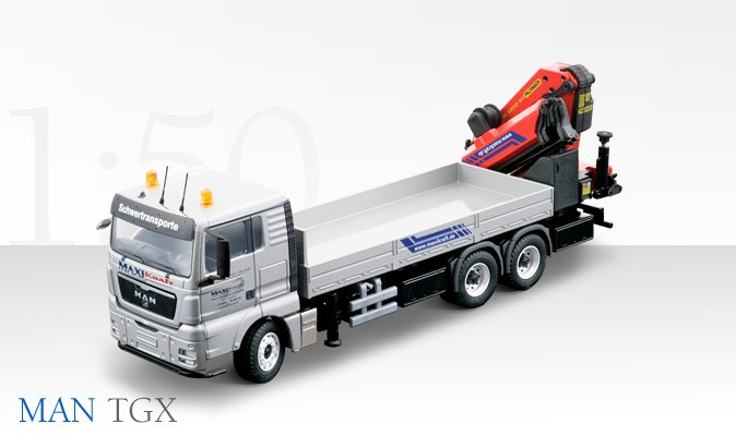 "MAN  TGX 3 axle truck with Palfinger PK 53002 self loading crane 'MAXIKRAFT"""