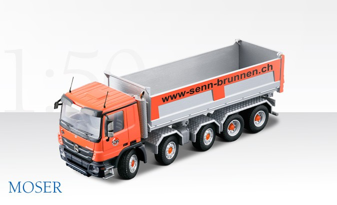 Mercedes 5 axle truck with MOSER dump body marked for Senn Trucking