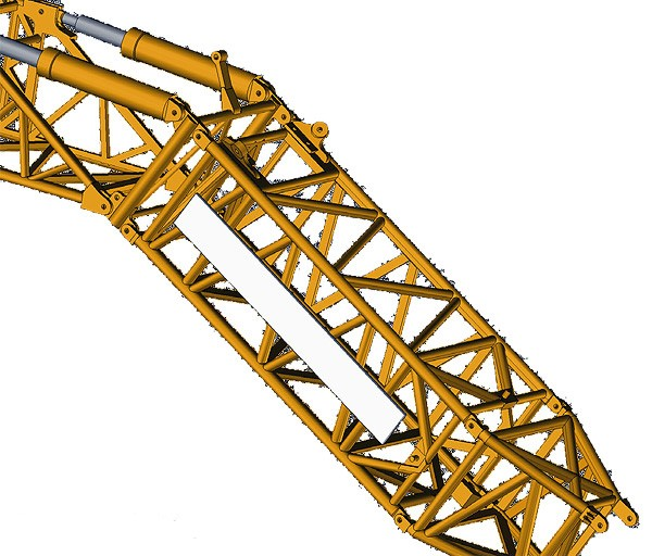 Blank billboard for lattice boom crane