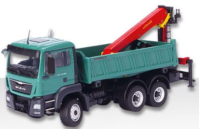 MAN All-Wheel Dump w/Epsilon Loading Crane