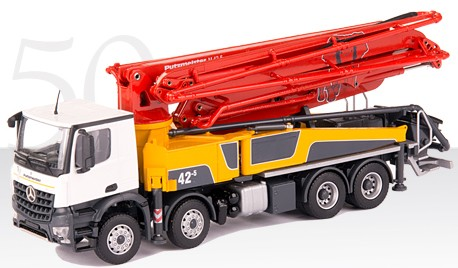 PUTZMEISTER M42-5RZ Concrete pump on Mercedes-Benz AROCS 4-axle