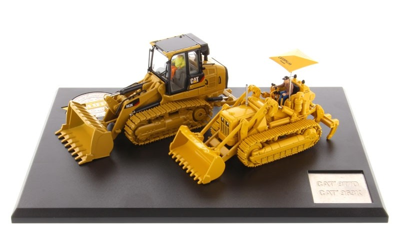 Caterpillar 977D Traxcavator (Circa 1955-1960) and Caterpillar 963K Track Loader (Current) Evolution Series