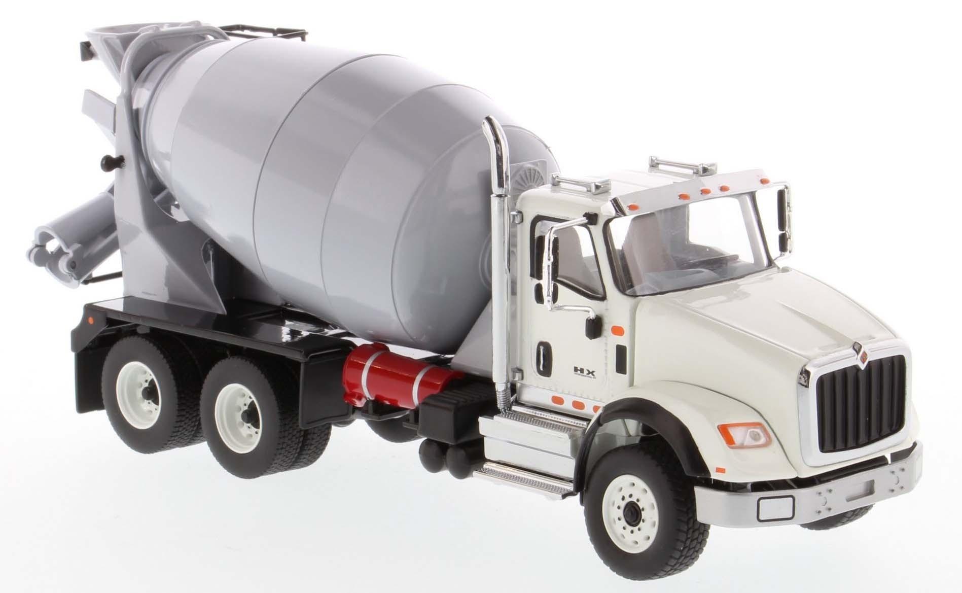 International HX615 Concrete Mixer in White with Light Grey Mixer Drum-PREORDER