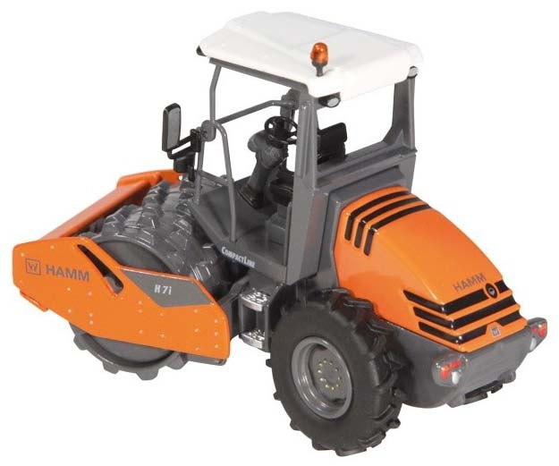 HAMM H7I Open ROPS Compactor with pad foot drum