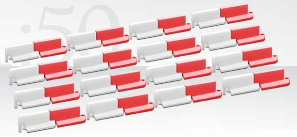 RED/WHITE LANE DIVIDER SET