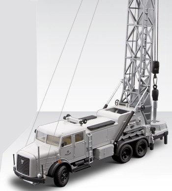 Faun 3 axle well drill rig