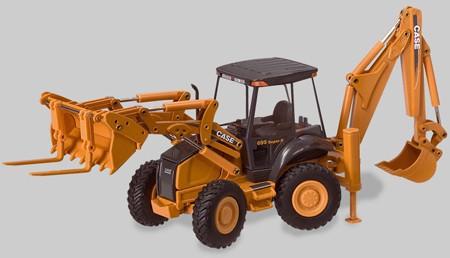 Case 695SR all wheel steer backhoe