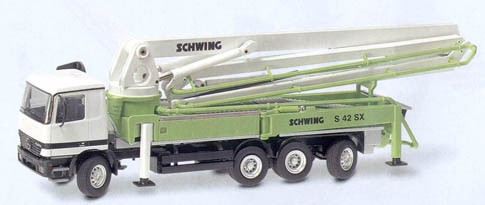 Mercedes Actros with Schwing S 42 SX cement pump
