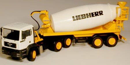 MAN tractor with Liebherr Mixer trailer