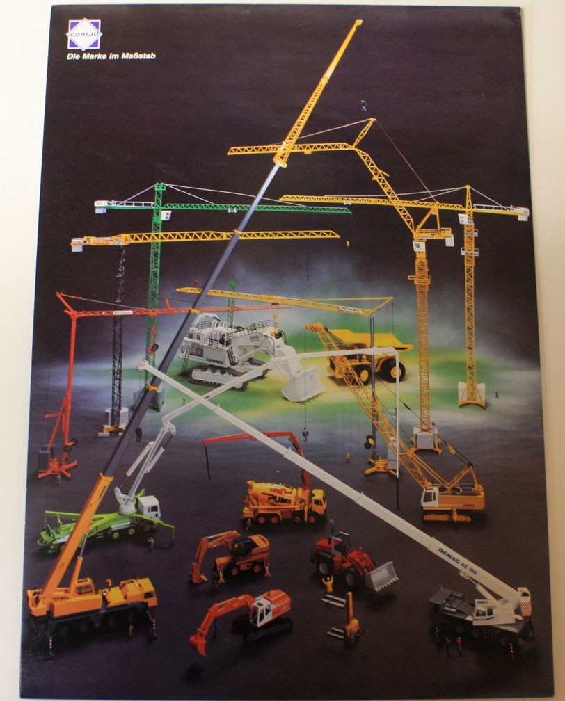 Poster of crane models by Conrad