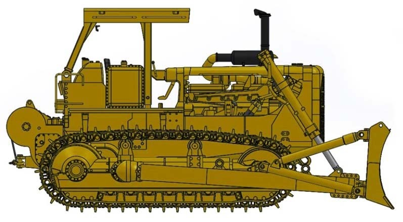 Cat® D8K Dozer-Open ROPS with A-blade & Cat 58 winch – Die-Cast-PRICE, PRODUCTION RUN AND PRODUCTION YEAR 2018