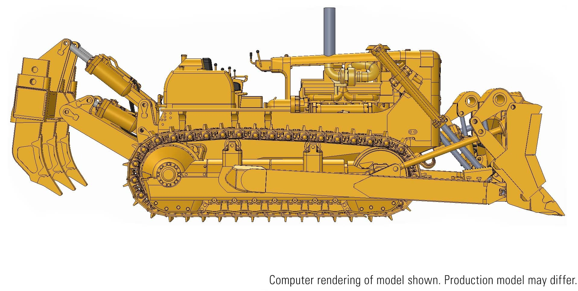 Cat® D9G Dozer with 9R Rip Blade – Die-cast--PRICE, PRODUCTION RUN AND PRODUCTION YEAR TO BE DETERMINED