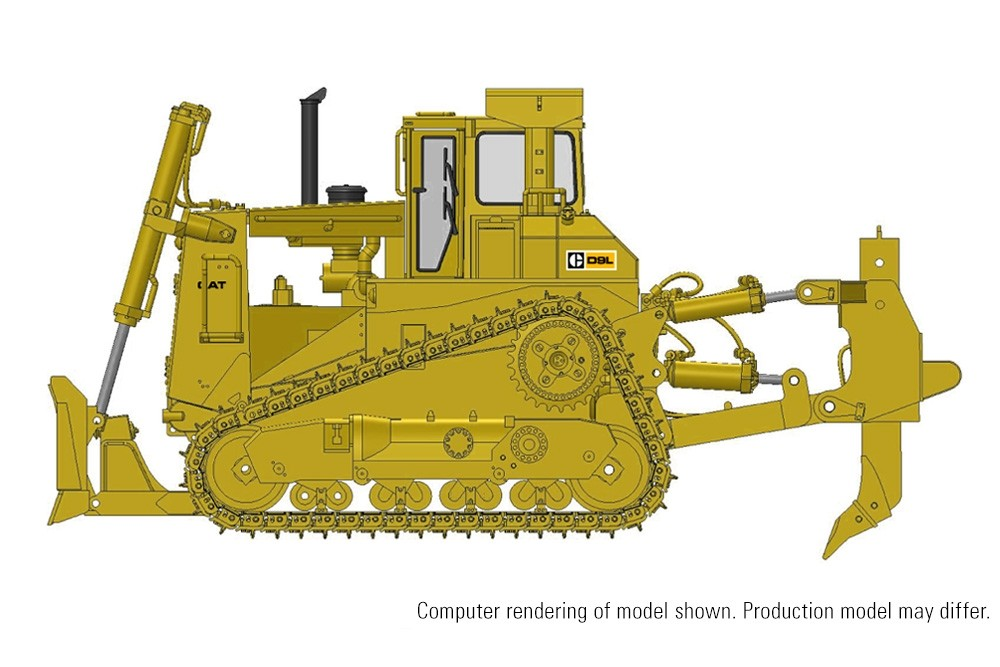 Cat D9L Track-Type Tractor with Push Blade/Ripper – Die-Cast-PREORDER