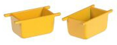 Portable cement mixing boxes