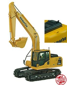 Komatsu PC 200 track excavator