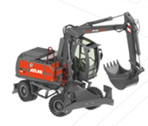 ATLAS 140W wheel excavator