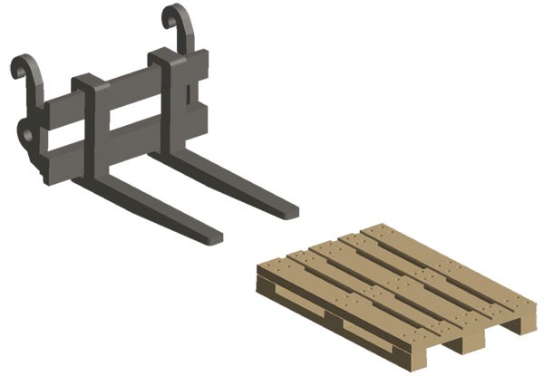 Pallet Handler / Forks with Pallet Included
