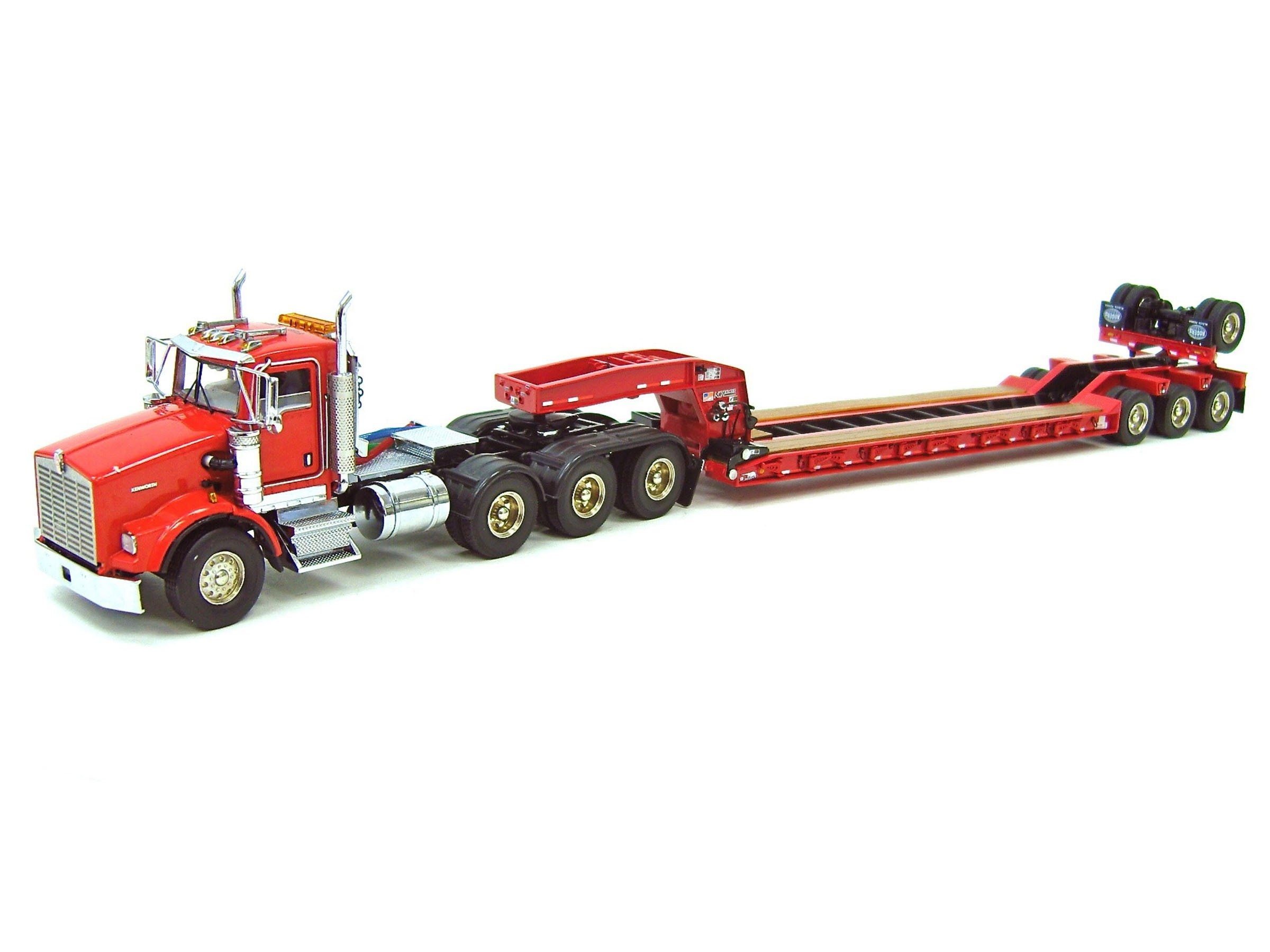 Kenworth T800W w/4-Axle Rogers Lowboy - Red
