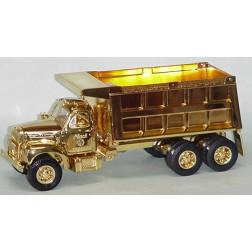 B model Mack dump truck GOLD PLATED