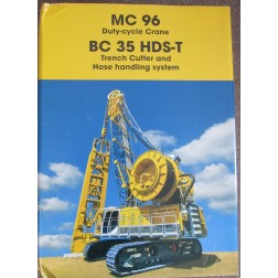 BAUER Cable Crane MC96 with Trench Cutter BC35 with HDS-T-This model was sold at Bauma 2016