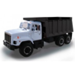 International S-Series dump truck-White cab/black box