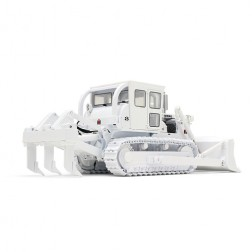"International Harvester TD-25 Dozer with Enclosed Cab and Ripper-""WHITE"""