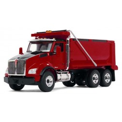 Kenworth T880 Dump Truck-Red/Red