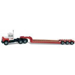 """Mack 'R' series tractor with lowboy """"CASE / I.H."""""""