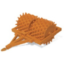Sheep foot roller orange