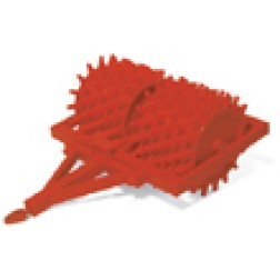 Sheep foot roller red