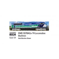 EMD SD70ACe-T4 Locomotive in Blue and Green