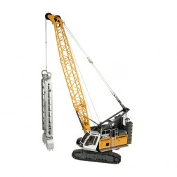 Liebherr HS 8100 HD Crane with Slurry wall grab and dragline bucket