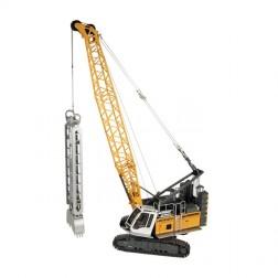 Liebherr HS 8100 HD Crane with Slurry wall grab and dragline bucket