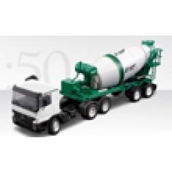Mercedes 2 axle tractor w/2 axle Stetter mixer trailer