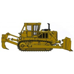 Cat® D8K Dozer-Closed ROPS with U-blade & Multi-Shank Ripper – Die-Cast-PRICE, PRODUCTION RUN AND PRODUCTION YEAR 2018