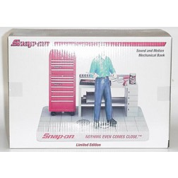 Snap-On sound and motion mechanical bank