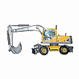 Volvo EW180B wheel excavator