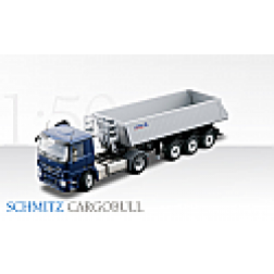 Mercedes Actros with Schmitz CARGOBULL 3 axle dump trailer