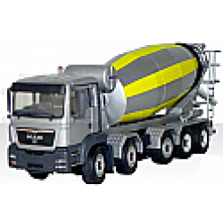 MAN TGS 5 axle chassis with HTM1024 mixer body