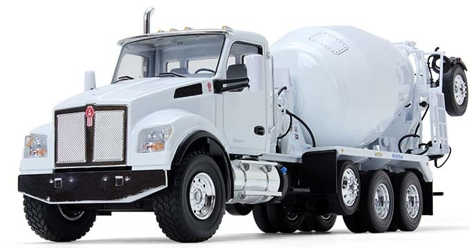 Kenworth T880S with McNeilus Bridgemaster Mixer-WHITE