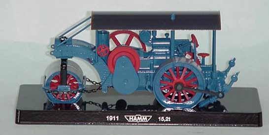1911 HAMM 3 drum road roller factory edition